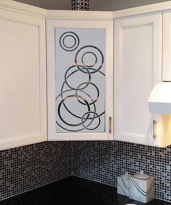 Glass Kitchen Cabinet Doors Only: Glass In Kitchen Cabinet Doors Can Be A Place For Art